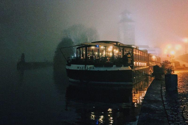Fog in Prague, Czech Republic Water Prague Fog Boat Foggy Night Mist First Eyeem Photo #tower