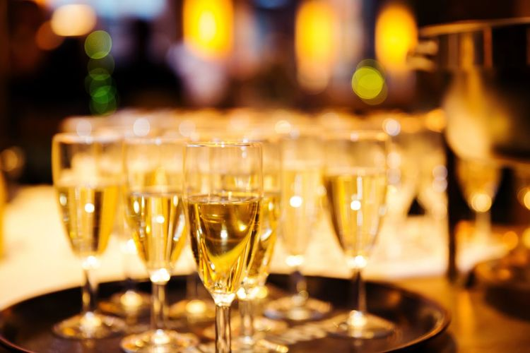 Prosecco party Drinks Drink Drinking Glasses Sekt Sektgläser Sektglas Prosecco Lights Night Party Served Candlelight Celebration Event