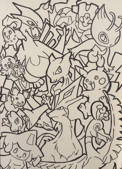 ポケモン Pokémon Illustration MyDrawing Painting Check This Out Outline