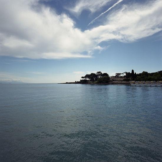 Antibes Blau Bleu Blue Côte D'Azur Idyllic Mediterran Mittelmeer Méditerranée Tranquil Scene