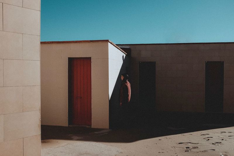 Girl Light And Shadow Shadows & Lights Composition Desolate FujiX100T Built Structure Architecture Building Exterior Sunlight One Person Day Wall - Building Feature Shadow Women Real People Door Outdoors Building
