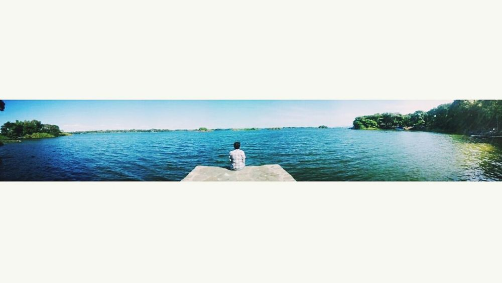 ? Peace And Quiet Lake View Lake Sky And Sun Panoramic Photography Panoramic