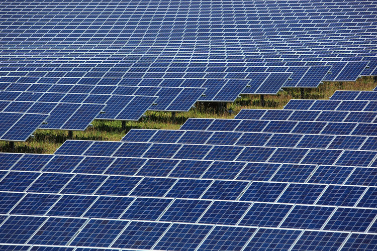 photovoltaic power station, a solar park Alternative Energy Blue Business Economy Electricity  Environment Environmental Conservation Environmental Issues Fuel And Power Generation Outdoors Power Supply Renewable Energy Solar Energy Solar Panel Solar Power Station Technology
