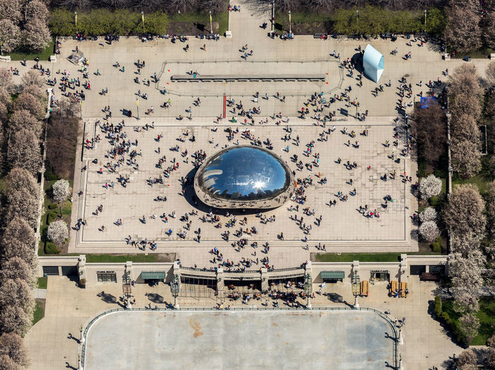 Da BEAN Plant Day Architecture Tree Travel Destinations High Angle View Nature Built Structure Tourism Travel Outdoors Water Directly Above Incidental People Large Group Of People Building Exterior Sphere Land