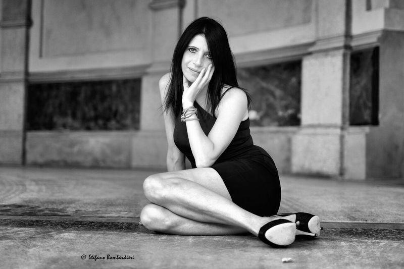 Modelle si nasce o si diventa ? FUJIFILM X-T1 Fujinon56mm Blackandwhite Portrait Of A Woman
