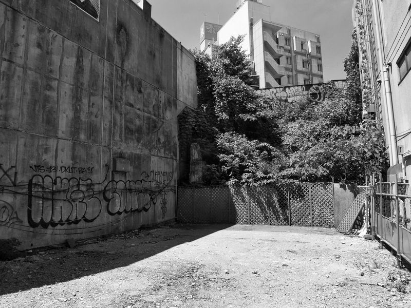 Architecture No People Wall Blackandwhite B&w Street Photography Streetphotography_bw Snapshot CityWalk Vacant Vacant Lot Vacantlot On The Road City Street at Shibuya 渋谷 , Tokyo Japan