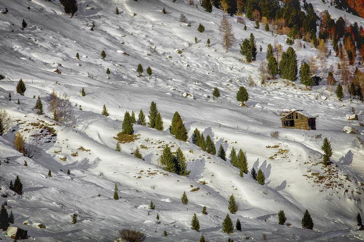 Austria Obergurgl Tirol  Beauty In Nature Cold Temperature High Angle View Landscape Nature Outdoors Scenics Snow Winter ötztal