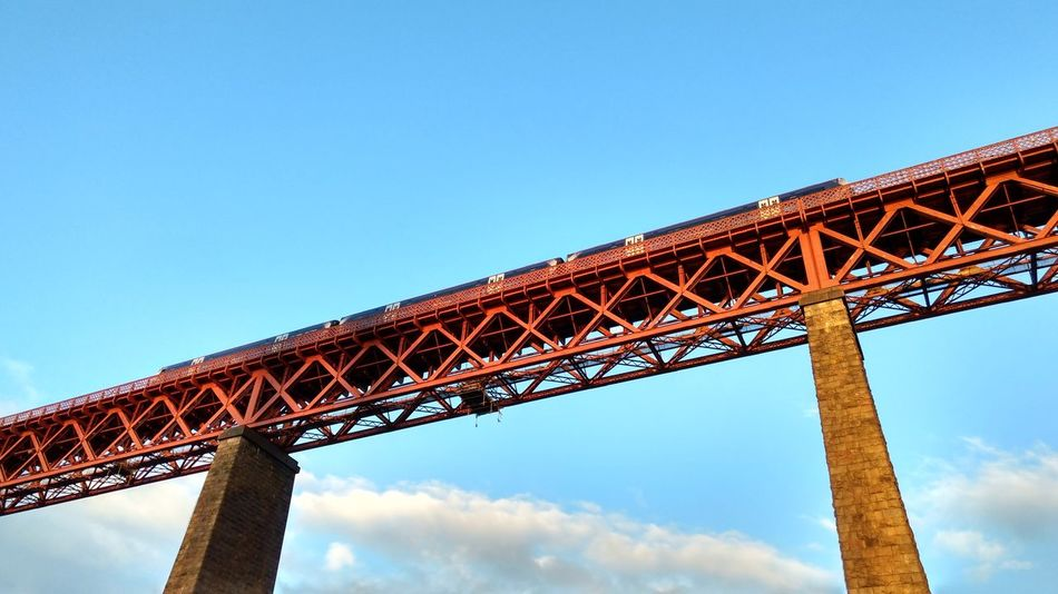 Forth Bridge Tourism Built Structure Architecture Travel Destinations Low Angle View Famous Place International Landmark Engineering Travel Copy Space Capital Cities  Blue Metal Eiffel Tower Bridge - Man Made Structure Culture Clear Sky Tall - High Tower Outdoors ForthBridge Scotland 💕