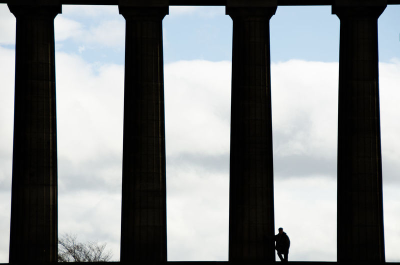 EyeEmNewHere Architectural Column Architecture Built Structure Cloud - Sky Day History No People Outdoors Silhouette Sky Tourism Travel Destinations