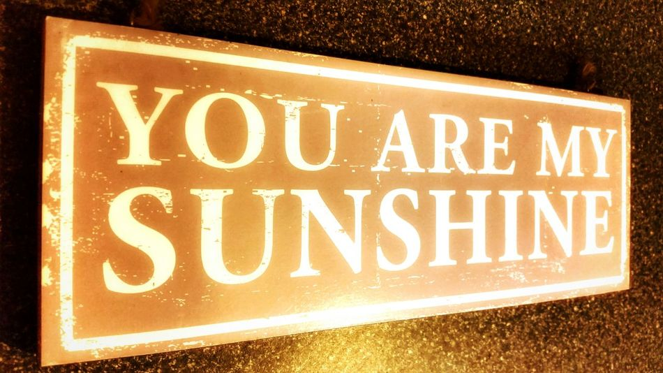 You Are My Sunshine Wall Plaque Sign Wall Sign