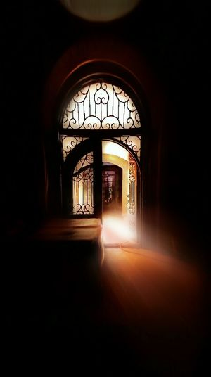 Indoors  Arch No People Surreal Surrealistic Layers And Textures Noir Photoshopedits Surrealism Photography Hazyveiw Window Light Stained Glass Doorways Rayoflight Monocromatic Scenics Contorted Nightview Dreamlike