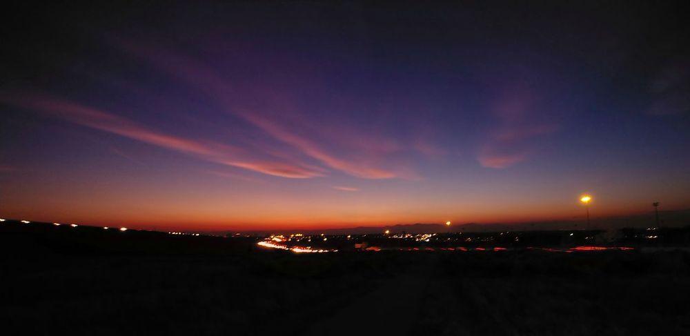 Night City Arts Culture And Entertainment Landscape Cityscape Illuminated Urban Skyline Sunset Outdoors Nightphotography Lights Landscape_photography