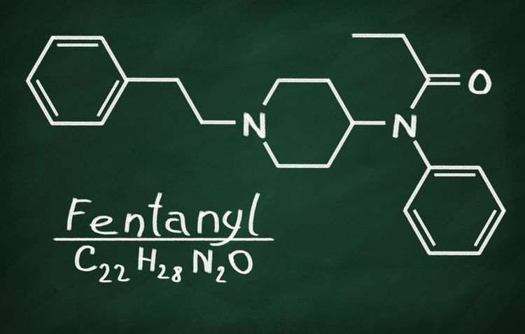 Analgesia Atoms Blackboard  Cancer Carbon Care Chalk Chemistry Fentanyl Formula Hydrogen Model Molecular Molecule Scientific Structure