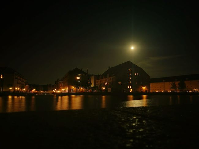 Night Illuminated Water City Reflection River Moon Outdoors No People Built Structure Architecture Cityscape Nightlife Sky Building Exterior Urban Skyline Denmark 🇩🇰 Copenhagen Habour