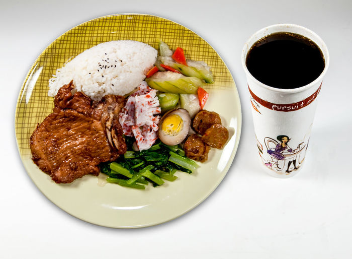 Asian Food Beans Corn Drink Drinking Glass Food Food And Drink Freshness Fried Pork Fried Ribs Healthy Eating Indoors  Meat No People Plate Ready-to-eat Ribs Rice Set Taiwan Food Vegatables