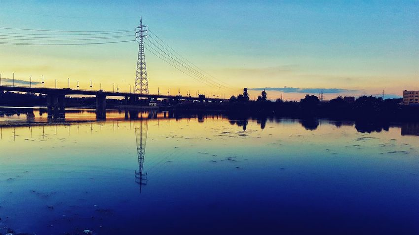 My Year My View Beauty In Nature Built Structure Clear Sky Water Sky Sunset Reflection Silhouette Nature Outdoors Scenics Togetherness No People Day Nature Egyptdailylife Like4like Likesforlikes Mobilephotography Photography Outdoor Photography Note5camera Likeforlike Water Reflections
