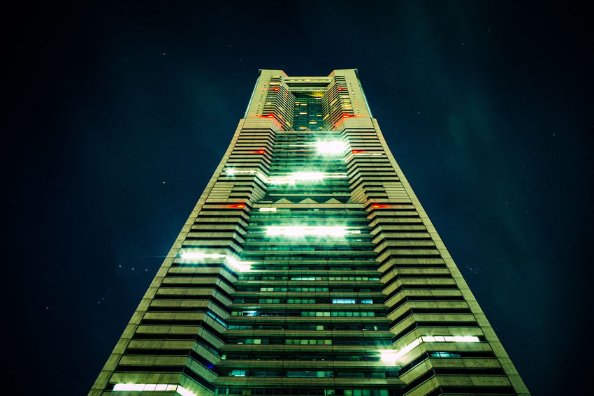 横浜 Yokohama Night Architecture Skyscraper No People Illuminated Outdoors Building Exterior City Sky