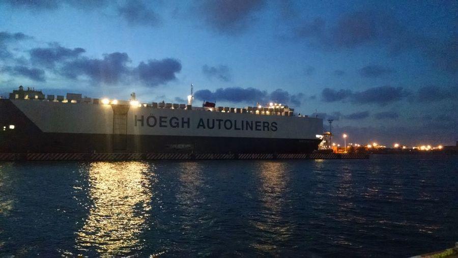 Barco Puerto Boegh Nautical Vessel Night