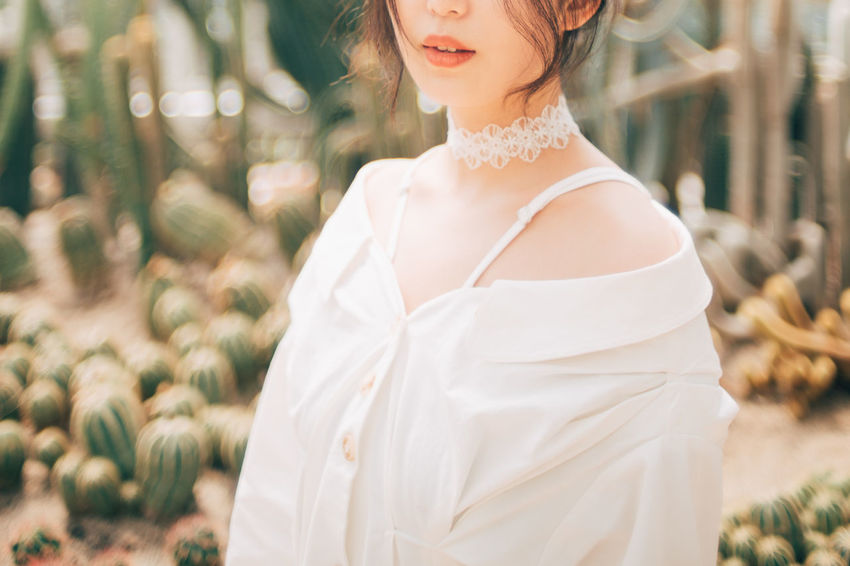 fragile Adult Beautiful Woman Beauty Bride Celebration Event Fashion Focus On Foreground Hairstyle Leisure Activity Lifestyles One Person Outdoors Plant Real People White Color Women Young Adult Young Women