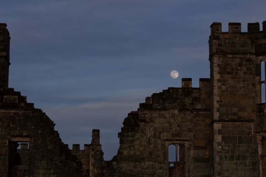 Architecture Astronomy City Cowdray Ruins Day History Moon MoonScape No People Outdoors Sky Travel Destinations