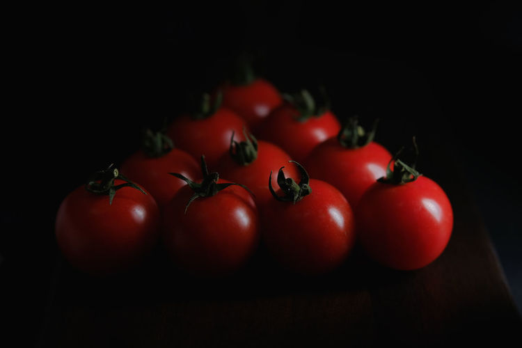 Black Background Cherry Close-up Cut Out Food Food And Drink Freshness Fruit Group Of Objects Healthy Eating Indoors  Juicy Large Group Of Objects Red Ripe Still Life Studio Shot Tomato Vegetable Wellbeing