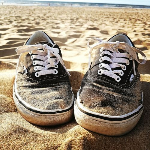 IMography First Eyeem Photo Vans Shoes Shoelove Vanslove FavoriteShoes Sand Strand Holland Urlaub Vacation Meer Ocean First Eyeem Photo