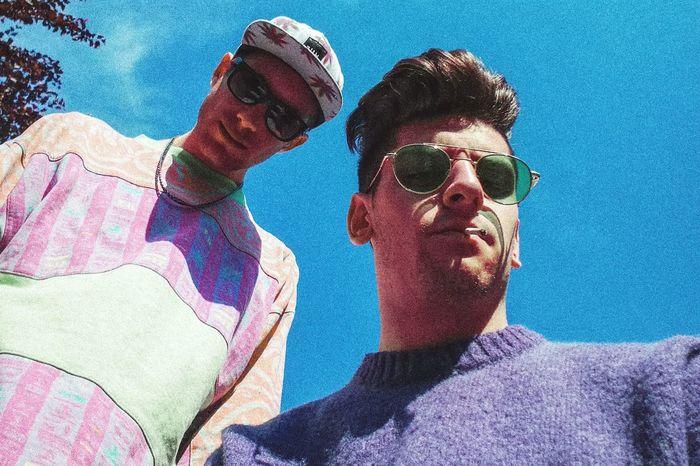 Young Women Togetherness Multi Colored Portrait Men Young Men Bonding Sunglasses Sky Close-up Friend