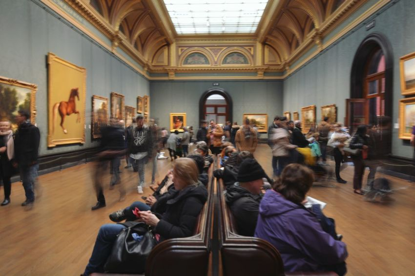 Indoors  People Large Group Of People Architecture Art Gallery Art Art Museum BYOPaper! Postcode Postcards National Gallery London