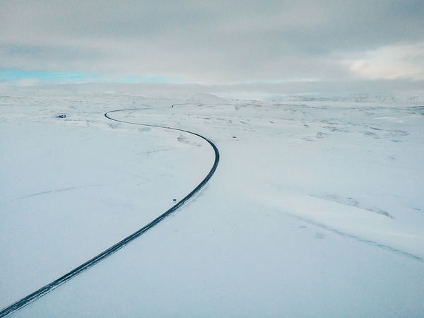 Only one way Aerial Shot DJI Mavic Air DJI X Eyeem Drone  Drone Shot Iceland Memories Mavic Ai Mavic Air One Way Travelling Aerial Aerial View Beauty In Nature Cloud - Sky Cold Temperature Day Environment Idyllic Landscape Mavic Nature No People Non-urban Scene Only One Way Outdoors Scenics - Nature Sky Snow Tranquil Scene Tranquility White Color Winter The Traveler - 2018 EyeEm Awards