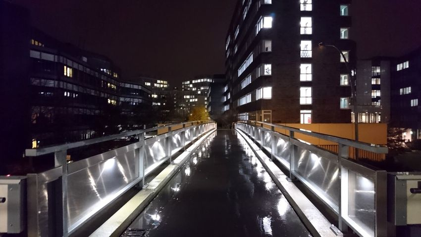 City Nord. Hamburg Germany Hh City Nord überseering Bridge Overpass From My Point Of View City Lights Night Lights Night Photography Urban Landscape Cityscape Architecture Lines Geometry Office Space Offices At Night