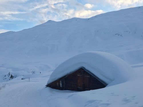 Snow-hat Winter Snow Cold Temperature Mountain Scenics - Nature Beauty In Nature Sky Mountain Range Environment Architecture Landscape Building Exterior Tranquility Built Structure Snowcapped Mountain Cloud - Sky No People Nature Non-urban Scene Tranquil Scene
