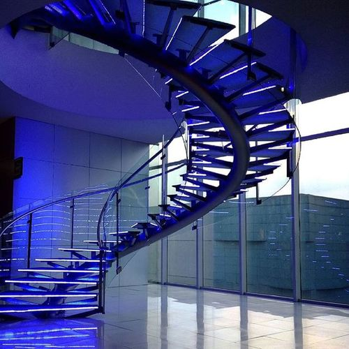 No filter needed. (SM North Edsa annex) Stairs Architecture Philippines Manila Nofilter Photography Interior Mall Blue Your Design Story Beautiful Gorgeous