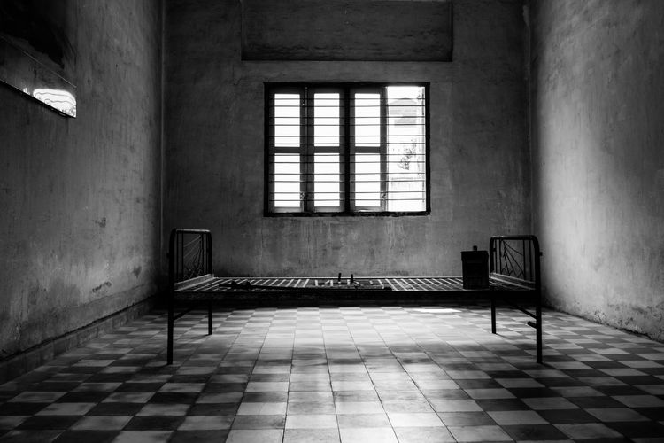 Empty corridor in abandoned building