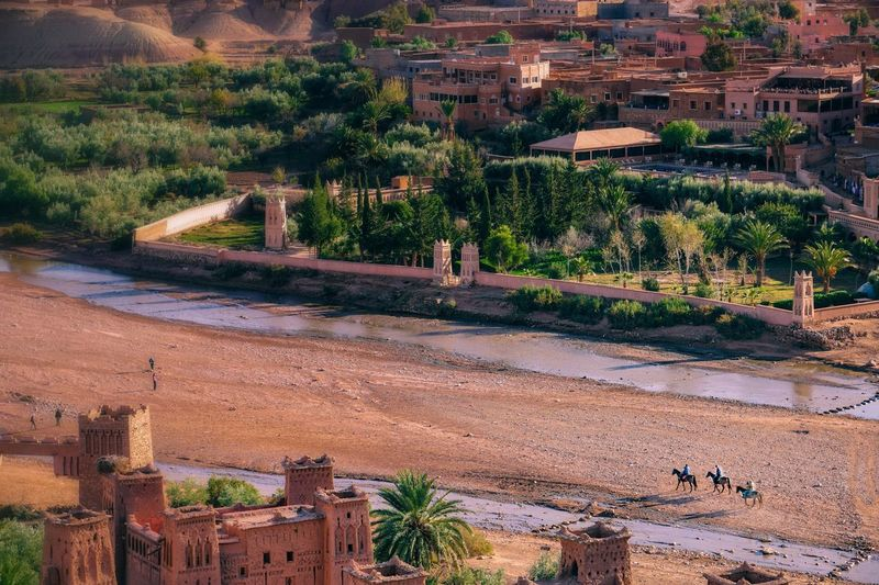 Three horsemen spotted in Aït Benhaddou, Morocco. Day Outdoors High Angle View Nature No People Agriculture Tree Growth Architecture EyeemPhilippines EyeEmPhilppines Eyeemphillipines EyeemPhilippines Mobilephotography Eyeem Philippiness Sunset Tree Nature Morocco 🇲🇦 Morocco Morocco Travel Africa Orange Aït Benhaddou Ait Ben Haddou - Unesco Unesco UNESCO World Heritage Site Be. Ready. Go Higher