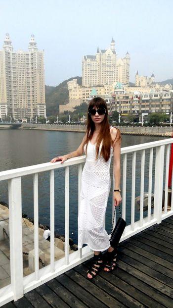 China, Dalian In Dalian Dalian City Travelling Beautiful View China ASIA Xinghai People Beautiful Girl Ladyinwhite Stylish