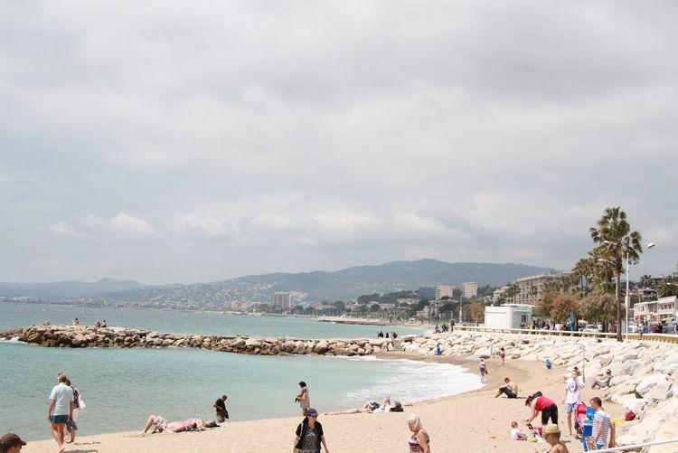 Cannes Cannes, France Cote D'-Azur Côte D'Azur France Beach Cloud - Sky Fiesta Group Of People Land Landscape Leisure Activity Lifestyles Men Nature Outdoors Real People Sea Sky Water канны Лазурный берег Море франция пейзаж