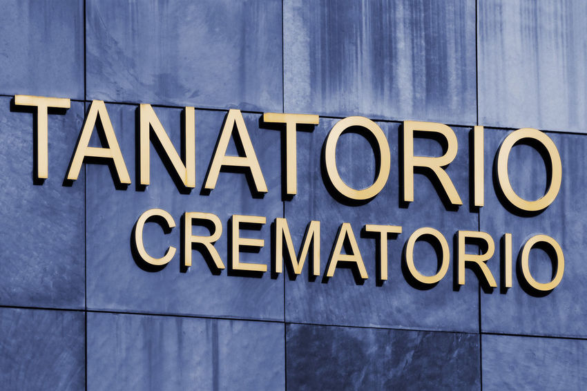 funeral home and crematorium service building, spanish language sign Text Communication No People Architecture Building Exterior Information Close-up Information Sign Corporate Business Message Crematorium Cremation Cremation Ceremony Tanatorio SPAIN Spanish Language Spanish Signs Death