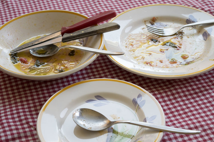 dirty dishes after the lunch After The Lunch Brunch Clear The Table Cutlery Dirty Dish End Lunch Set