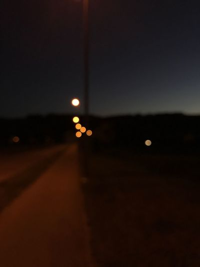Night Illuminated No People Sunset Sky Road Moon Nature Transportation Silhouette Outdoors Beauty In Nature Close-up