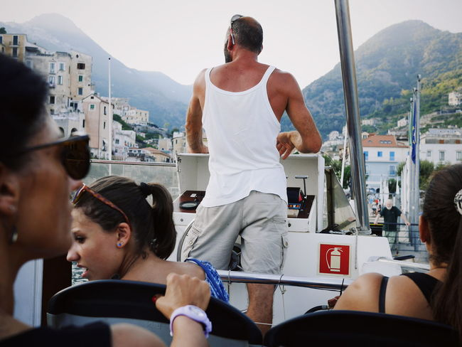 Transportation Sitting Adult People Adults Only Day Outdoors Film Industry Boat Cetara Amalfi  Point Of View POV Port Italy