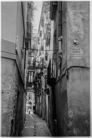 Street amidst houses