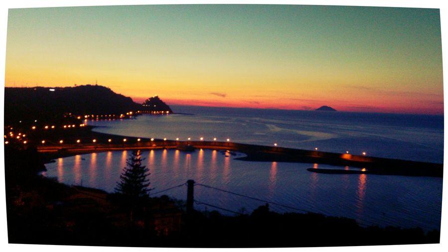 Capo D'Orlando Tramonto Sunset Sea And Sky