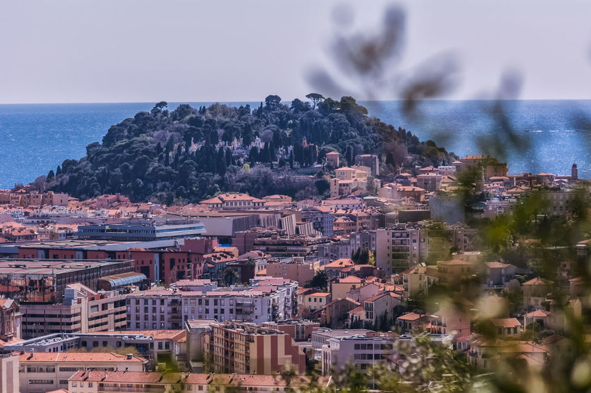 Architecture Beauty In Nature Building Building Exterior Built Structure City Cityscape Day France French Riviera Hill Hillside Horizon Over Water Landscape Mediterranean  Mediterranean Sea Nature Nice France No People Outdoors Scenics Sea Sky Water