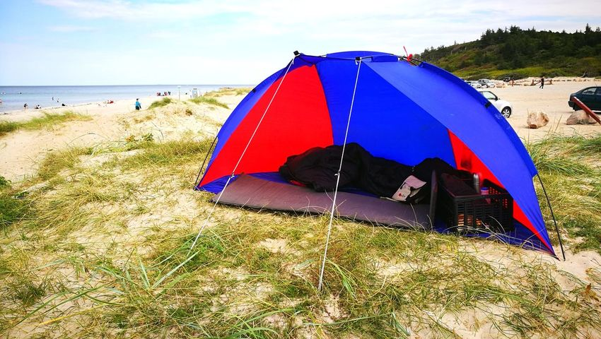 Beach Sand Tent Sea Water Summer Day Outdoors Vacations Nature Shelter Summertime Foto Sunlight Lifestyles