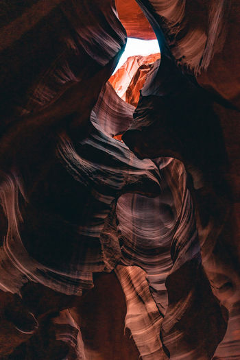 Low angle view of rock formation at antelope national park