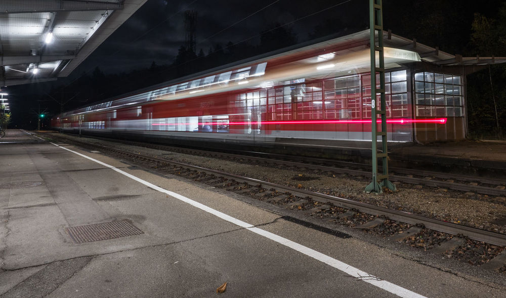 Long Exposure Shot Day Illuminated Mode Of Transport No People Outdoors Public Transportation Rail Transportation Railroad Station Platform Railroad Track Sky Train - Vehicle Transportation Waiting For A Train Waitingroom