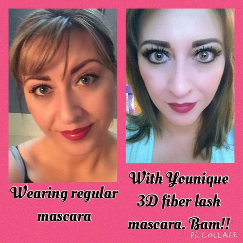 Go from no lashes to WOW lashes. All Natural Not Fake YOUnique Beauty Makeup Not Photoshopped https://www.youniqueproducts.com/CrystalHaffner/party/2223214/view