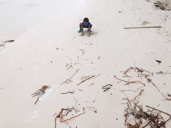 Boracay One Person Sand Real People Childhood Sandandsun BoracayIsland Playing Field