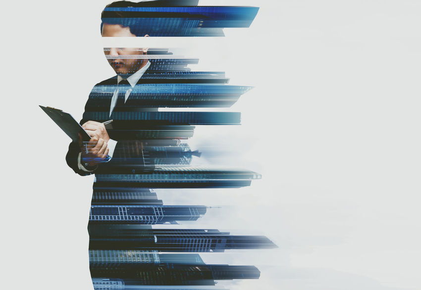 Business Man Multiple Exposures Suit Working Working Hard Agreement Businessman Communication Corporate Corporate Business Creative Deal Double Exposure Finance Partners Partnership Partnership - Teamwork People Professional Stock