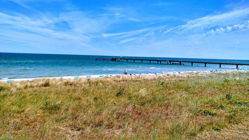 Horizon Over Water Taking A Trip Sea Beach Water Sand Sky Scenics Beauty In Nature Nature Outdoors Day Vacations Travel Destinations Grass No People Wave